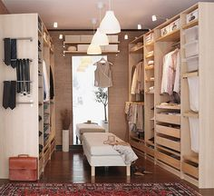 Ikea Closet - could turn a spare room into one big bad-a closet - everything from Ikea is removable anyway so you can always turn it back into a bedroom
