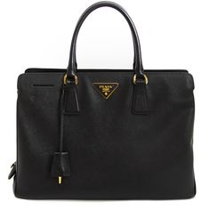 b976d762e026 Labellov Prada Saffiano Black Leather Tote Size Large ○ Buy and Sell  Authentic Luxury