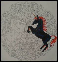 Unicorns Enchanted Forest. Unicórnios Floresta Encantada. Johanna Basford