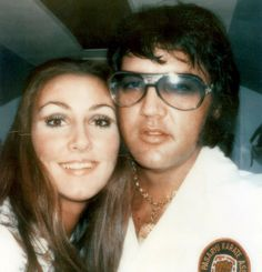 Elvis with Linda, they look so happy. Apparently they could be heard throughout Graceland laughing with each other, real belly laughs. She was so good for him, he started to look content