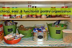 E, Myself, and I: Easy Pantry Organization