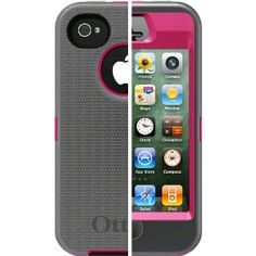 OtterBox Defender Series Hybrid Case & Holster for iPhone 4 & 4S  - Retail Packaging - Peony Pink/Gunmetal Grey