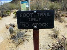 Foot Trail Only