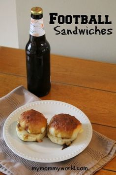 Easy football sandwiches make a fun football snack...A great recipe to take to a party or barbeque on game day!