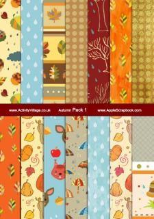 Free printable autumn scrapbook paper, fall scrapbook paper | http://ilovecolorfulcandies.blogspot.com