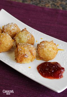 Cinnamon Rice Fritters made with Carolina White Rice. #DecadentDesserts