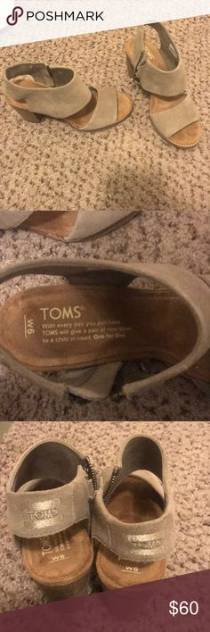 Toms Cute Toms wedges. Size 6. I wore about twice. Toms Shoes Wedges