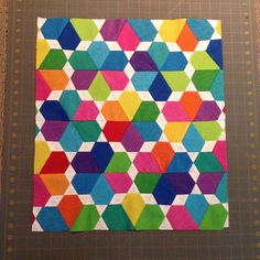 My Mini Lotus quilt top is finished. I absolutely love this pattern from Jaybird Quilts!