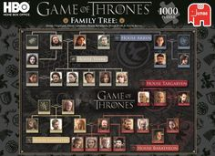 Game of Thrones Family Tree jigsaw puzzle. One of many from Amazon for fans of the HBO mini series.