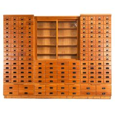 Extreme Large Apothecary Chest | From a unique collection of antique and modern apothecary cabinets at https://www.1stdibs.com/furniture/storage-case-pieces/apothecary-cabinets/