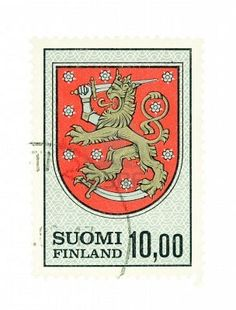 Old Finnish Stamp  #sarjaton