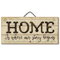 Home Is Where Your Story Begins Reclaimed Wood Sign