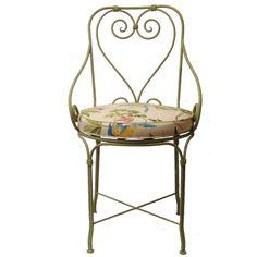 Cadeira de Ferro Charme Verde :: Loja Dom Mascate