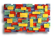 "Four Seasons by Karo Martirosyan (Art Glass Wall Sculpture) (36"" x 53.5"")"