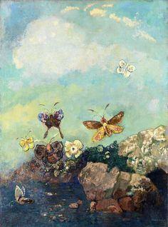Odilon Redon   Papillons (Butterflies) (ca. 1910)   Artsy