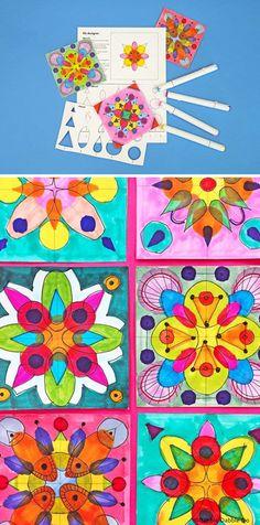 Group Art Projects, Summer Art Projects, Art Projects For Teens, Easy Art Projects, Art Activities For Kids, Creative Activities, 3rd Grade Art, Grade 2, Steam Art