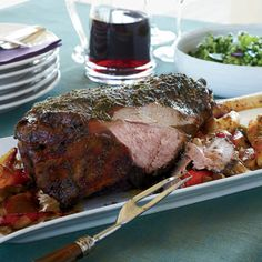 Garlic-and-Herb-Crusted Leg of Lamb - Easter maybe?!