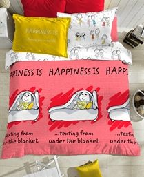 Portico New York Mulit Colour Happiness Is Bedlinen 9066311