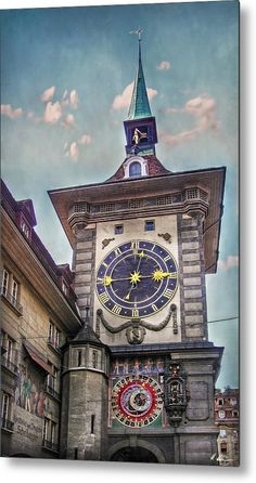 Clock Tower Metal Print featuring the photograph The Clock Of Clocks by Hanny Heim