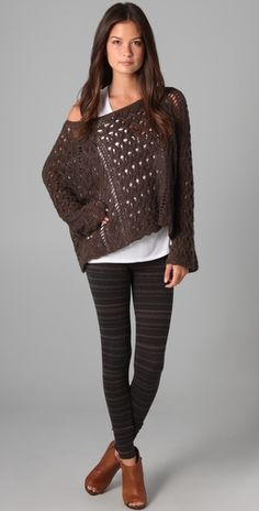 """Kind of into patterned leggings for this fall... Free People """"Globetrotter Leggings"""" $68"""