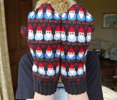 True Blue Me & You: DIYs for Creatives — DIY Knit Gnome Mittens $6 Pattern from SpillyJane...