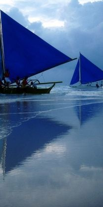 Blue sails in Mozambique ...