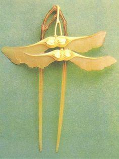 Lucien Gaillard, hair pin, 1906