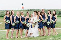 Bridesmaid Dresses, Jim Hjelm, Flowers by: Flowers on Chestnut, Photo: Zofia & Co. Photography - Massachusetts Wedding http://caratsandcake.com/sarahandhenry