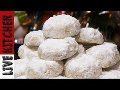 Prom Dresses Tight, Traditional Kourabiedes Christmas Cookies Live Kitchen , With a wide range of long tight prom dresses that come in 32 colors, standard size and custom sizes, there's no way you won't find your perfect dress here. Greek Desserts, Christmas Cooking, Kitchen Living, Food Styling, Sweet Recipes, Feta, Sweet Treats, Food Porn, Sweets