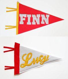 DIY pennant banner
