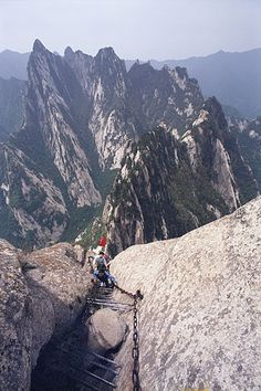 Hike the most dangerous trail in the world. Mt Hua Shan, China