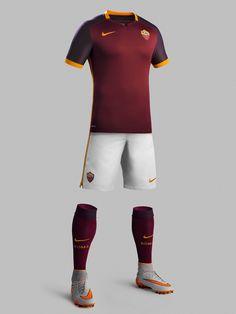 e9ec4f865d79f AS Roma 2015-16 Nike Home Football Team Kits