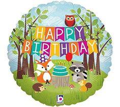 Betallic-36178P-Woodland-Birthday-Party-Holographic-Balloon-Pack-46cm-Huge-Sav