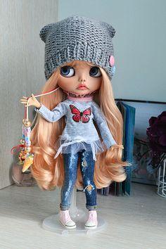 Blythe custom doll OOAK curving handmade OOAK Aurora