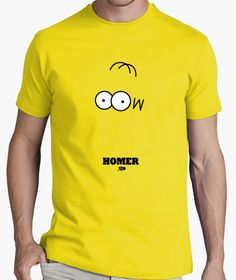 HOMER Boys T Shirts, Funny Shirts, T Shirts For Women, Yellow T Shirt, Painted Clothes, Mens Clothing Styles, Aldo, Colorful Shirts, Graphic Tees