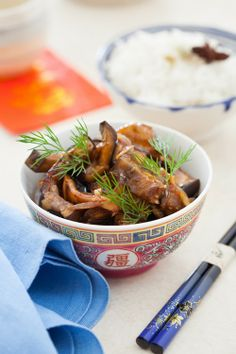 Szechuan Eggplant & Aromatic White Rice - Happy Lunar New Year! at Cooking Melangery