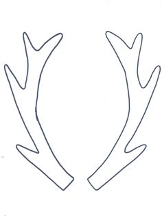 Pin by muse printables on printable patterns at for Template for reindeer antlers