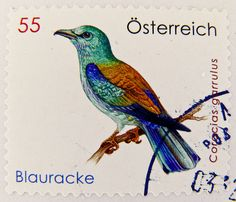 Austria 55c bird stamp