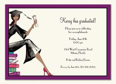 """Graduation Party Invitation - finally found a """"multicultural"""" one"""