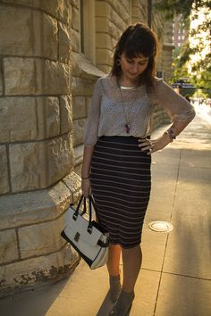 Stranger Than Vintage: What I Wore: The Magnificent Mile Edition - fall outfit idea when shopping around downtown #Chicago!