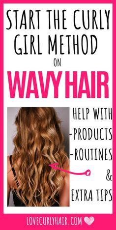 Wavy Hair Care, Curly Hair Tips, Dry Curly Hair, Curly Hair Routine, Long Wavy Hair, Haircuts For Wavy Hair, Curly Hair With Bangs, Damp Hair Styles, Curly Hair Styles