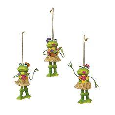 Hula Frog Ornaments - OrientalTrading.com