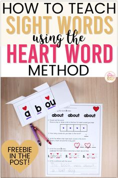 The Science of Reading tells us that students don't learn sight words through rote memorization. Learn how to use Heart words, an effective method for helping students master high frequency sight words. View a NO PREP Heart Word resource, activities and FREEBIE to help kindergarten, first and second grade students learn sight words. #learningtoread #sightwords #heartwords Learn To Read Kindergarten, Kindergarten Reading Activities, Teaching Reading, Preschool Learning, Learning How To Read, Guided Reading, Reading Intervention Activities, Reading Tips, Reading Groups