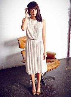 Gold Belted Pleated Midi Dress - Dresses - Apparel - Miss Selfridge US
