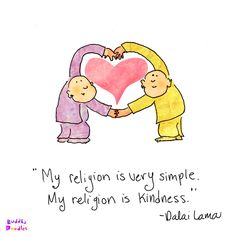 Buddha Doodle - 'Simple Kindness'byMollycules