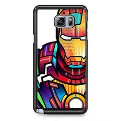 Ironman Colorful Art TATUM-5685 Samsung Phonecase Cover Samsung Galaxy Note 2 Note 3 Note 4 Note 5 Note Edge