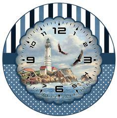 маяк Clock Craft, Diy Clock, Clock Decor, Clock Ideas, Wall Clocks, Xmas Clock, Clock Face Printable, Paper Clock, American Flag Art
