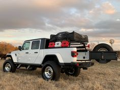 Vertical Tiregate - Jeep Gladiator | WilcoOffroad.com Jeep Jt, Jeep Mods, Jeep Truck, Chevy Trucks, Jeep Gear, Jeep Wrangler Jk Accessories, Jeep Accessories, Custom Jeep Tire Covers, Truck Tent