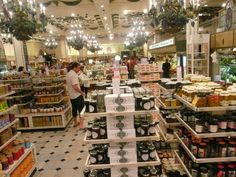 harrods-food-hall in London --right by hyde park