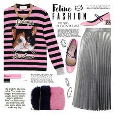 """Feline fashion"" by susli4ek ❤ liked on Polyvore featuring Gucci, Miss Selfridge, Loeffler Randall and Miu Miu"